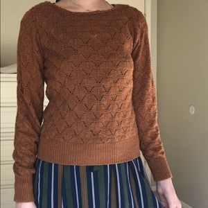 Vintage Cuddle Knit Golden Orange Sweater
